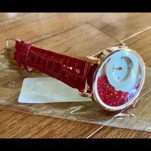 NEW Red Crystal Ladies Watch